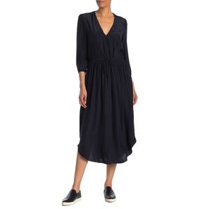 JAMES PERSE NWT Silk Drawstring Waist Midi Dress